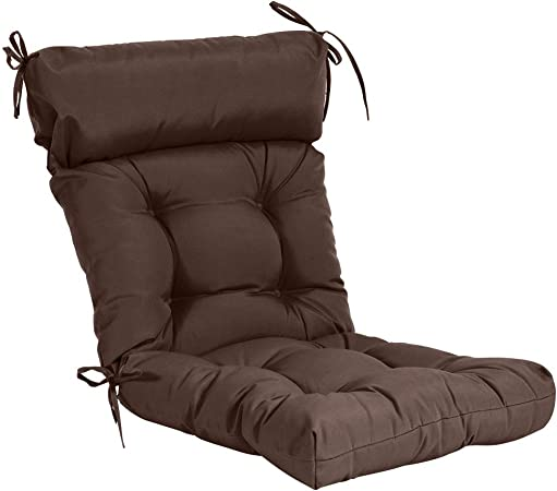 QILLOWAY Indoor/Outdoor High Back Chair Cushion ,Spring/Summer Seasonal All Weather Replacement Cushions. (Coffee / Brown / Chocolate)