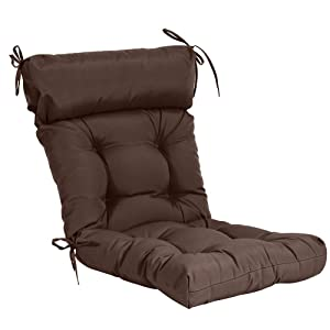 QILLOWAY Indoor/Outdoor High Back Chair Cushion,Spring/Summer Seasonal Replacement Cushions. (Coffee)
