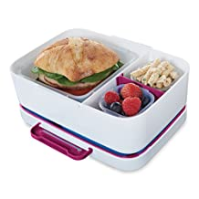 Rubbermaid LunchBlox Leak-proof Entree Lunch Container Kit with Case, Small, Beet Red (2000580)