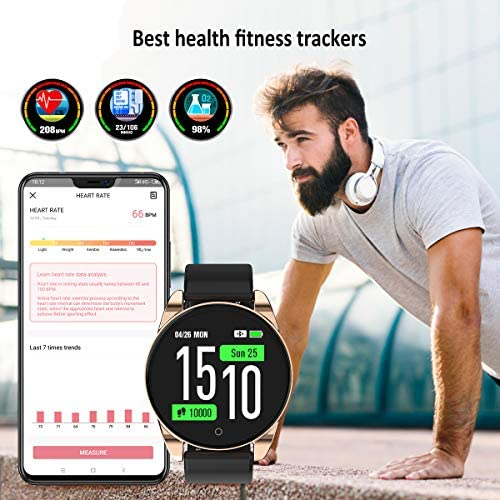GOKOO Smart Watch, Fitness Tracker Smart Watch for Women Men with Heart Rate Blood Pressure Sleep Monitor IP67 Waterproof Sports Activity Tracker Calorie Counter Smartwatch Android 3