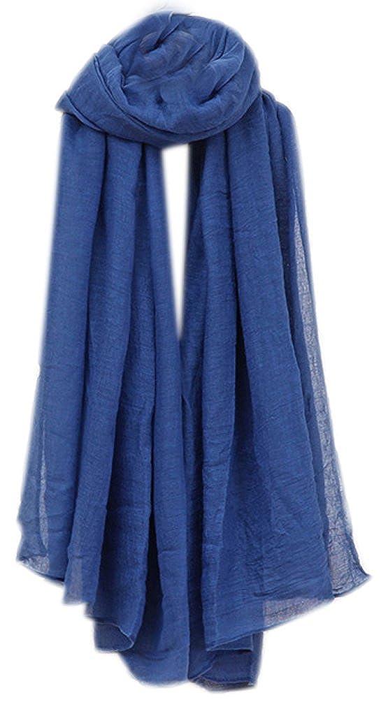 Bufandas Mujer Larga Mezcla Algodon Bufanda Mujeres Caliente Suave Color Puro Bufanda Primavera Otoño Invierno