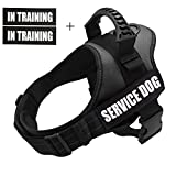 Fairwin Service Vest Dog Harness - Adjustable Nylon with IN TRAINING Reflective Patches for Service Dogs Large Medium Small Sizes