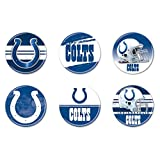 """WinCraft NFL Indianapolis Colts WCR97951191 Round Button (6 Pack), 2"""""""