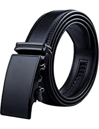 Belts for Men - Men's Leather Ratchet Dress Belt with Automatic Adjustable Buckle