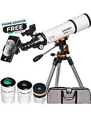 Telescopische astronomie, draagbaar en krachtig 20 x 250 x, eenvoudig te monteren en te gebruiken, ideaal voor beginners en volwassenen. Telescoop voor maan, planeten en sterrenschiling