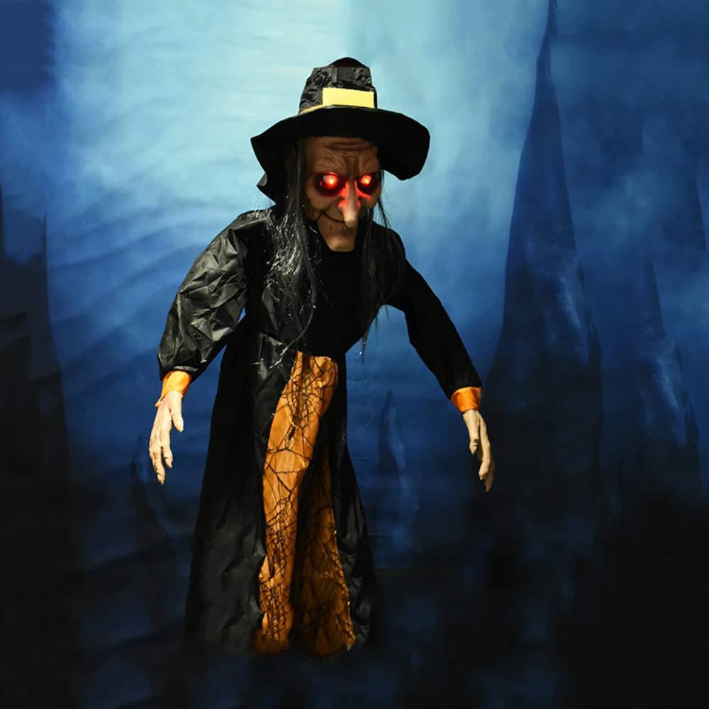 Halloween Maison D/écor/ée Prop D/écor ZKKAW 59Suspendus Anim/és Parlant Sorci/ère Halloween Maison hant/ée D/écor Prop Sorci/ères pour Halloween Sorci/ères Suspendues