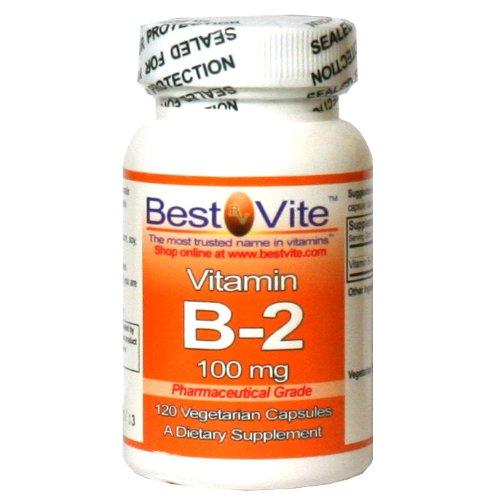La vitamine B-2 100 mg (120 capsules végétariennes)