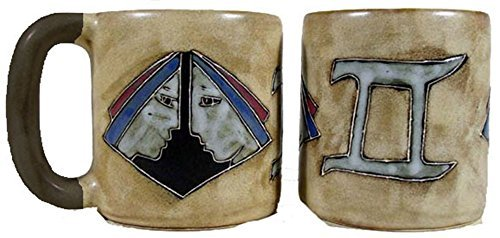 Mara Stoneware Zodiac Mug 16 oz - Gemini the Twins by Mara Stoneware