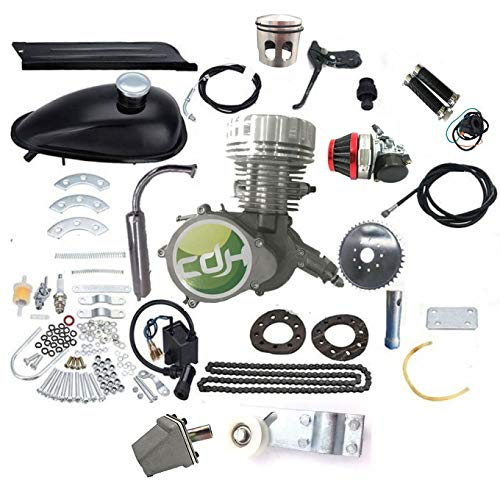 CDHPower CNC Head 80CC PK80 Motorized Bicycle Engine Kit, Reed Valve, Window Piston, 8mm Mounts