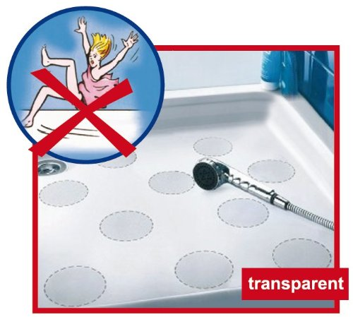Anti-Rutsch-Sticker  von Safepore® für Ihre Sicherheit im Bad - kein Ausrutschen mehr in der Dusche oder Badewanne