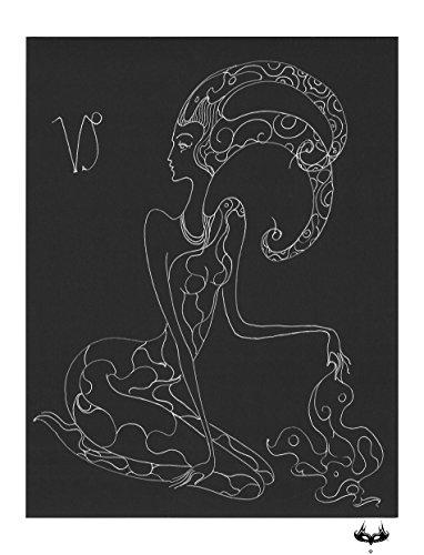 Capricorn Silk Scarf by MM Art & Fashion