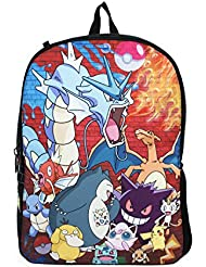 Pokemon Multi Character Brick Wall Party Backpack School Bag 16 inch