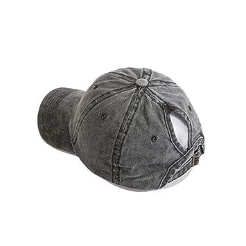 Sunronal Gorra de béisbol, Estilo Retro, de algodón Lavado ...