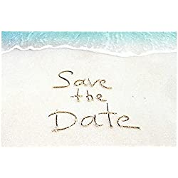 Sandy Beach Save The Date Postcards - 4in. X 6in. (50)