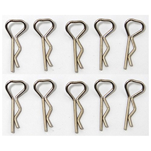 (Hot Racing AC02TR08 chrome Triangle Bend Body Clips (10))