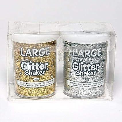 Gold /& Silber f/ür Weihnacht Deko Set aus 2 Streuern Baker Ross Extragro/ße Glitzer Streuer