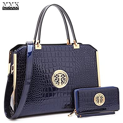 Amazon.com  MMK collection Fashion Packlock Handbag for Women~Signature  fashion Designer Purse with spring colors~Perfect Women Satchel Purse ~  Beautiful ... 72796c5c09fe3