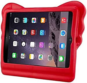 Red 3D Elephant Trunk EVA Kids Thick Foam Shock Proof Soft Stand Back Case Cover For iPad 2 3 4