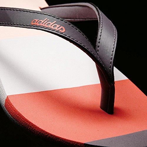 adidas Eezay Striped W, Infradito Donna, Grigio (Gritra/Corneb/Corsen), 44 2/3 EU