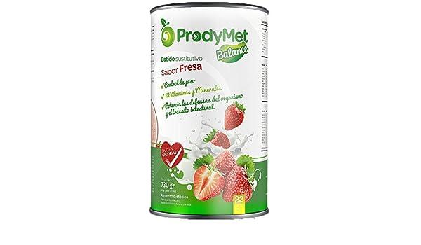 Batido Nutricional Sustitutivo Sabor Fresa Prodymet Balance 730 gr.: Amazon. es: Salud y cuidado personal