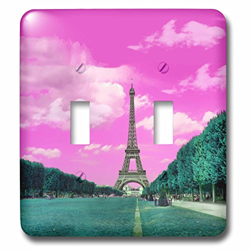 3dRose lsp_276315_2 Surreal Digital Art of Eiffel Tower in Paris Toggle Switch, Mixed by 3dRose