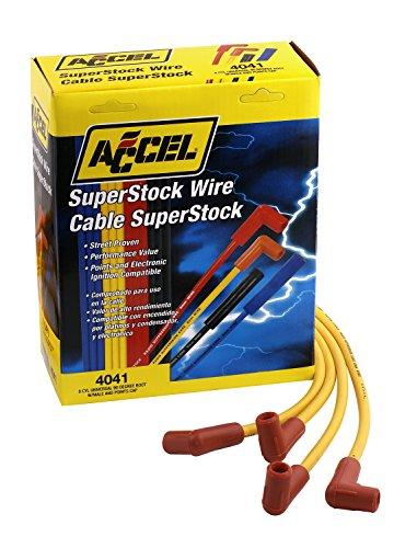ACCEL 4041 8mm Super Stock Copper Universal Wire Set - (Plug Wire Set 90 Boots)