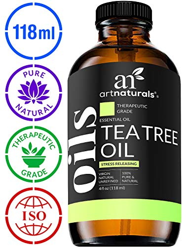 ArtNaturals 100% Pure Tea Tree Essential Oil - (4 Fl Oz / 120ml) - Natural Premium Melaleuca Therapeutic Grade - Great with Soap and Shampoo, Face and Body Wash - Antifungal Treatment for Acne, Lice (Best Home Remedy For Dry Itchy Scalp)