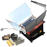 LIMITED TIME LOW PRICE FOR FIRST TIME SELLING ON AMAZON | Solar Tracker Oven Complete Set by Sunshine Innovations| Solar Powered Cooker w/ Motorized Sun Tracking Base |Portable Outdoor Camping Stove