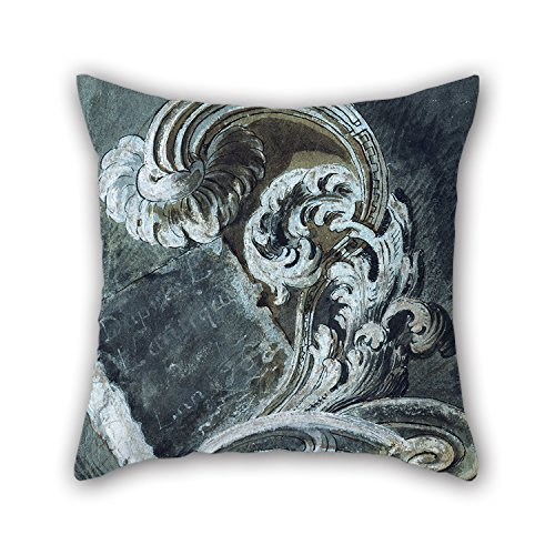 Price comparison product image Slimmingpiggy 16 X 16 Inches / 40 By 40 Cm Oil Painting François Cuvilliés The Younger - Inscription Plate In Scroll Ornament Pillow Shams, two Sides Is Fit For Wedding, girls, dining Room, boys, kids