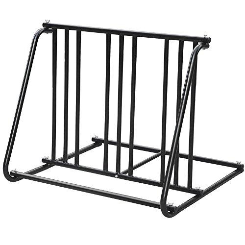 Yaheetech Professional Steel 1-6 Bikes Floor Bike Stand Blac