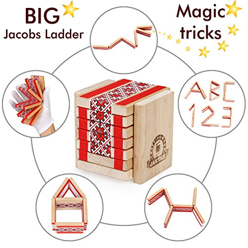 Big Jacobs Ladder Toy for Magic Tricks. Brain Teaser Puzzle kit for Kids and Adults red Set