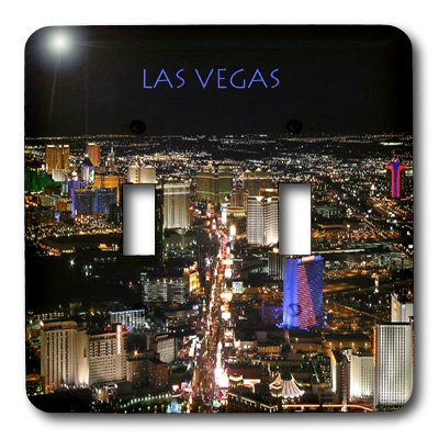 3dRose LLC lsp_1237_2 Las Vegas The Strip, Double Toggle - Vegas Outlet Las