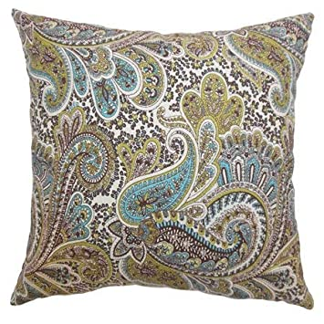 The Pillow Collection Dorcas Paisley Bedding Sham Chocolate King//20 x 36