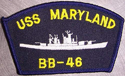 Embroidered Military Patch USS Maryland BB-46 Navy Ship New 3 3/4