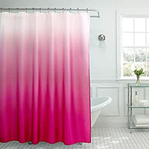 Amazon Creative Home Ideas Ombre Textured Shower Curtain With