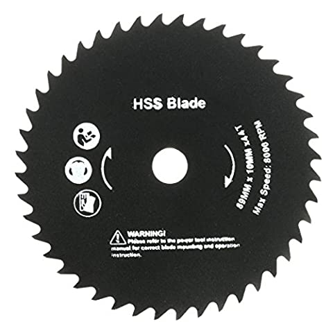 Best to Buy New 89mm 10mm Hole 44 Teeth HSS Circular Saw Blade Cutting home depot circular saw blades 7 1 4 inch dremel trio tool kit three combo 3000 3 rotary single speed mini cordless worm (Cordless Right Angle Die Grinder)