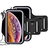 Triomph Waterproof Phone Armband Case for iPhone Xs Max, XR, X, 8 Plus, 7 Plus, 6 Plus, 6S Plus, iPod Samsung Galaxy S9…