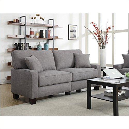"""Serta RTA Palisades Collection 73"""" Sofa in Glacial Gray"""