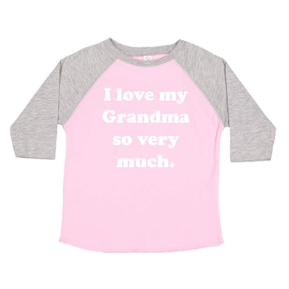 I Love My Grandma So Very Much Toddler//Kids Raglan T-Shirt