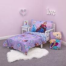 Disney Frozen Stirring Up Fun 4 Piece Toddler Bedding Set, Purple/Pink/Multicolor