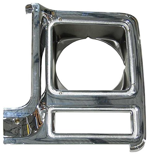 - Auto Metal Direct Headlight Bezel - LH Chrome/Dark Gray - 79-80 Chevy GMC Truck Blazer Jimmy Suburban