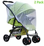 Universal Baby Stroller Rain Cover Waterproof Umbrella Wind Dust Shield Cover for Strollers (Mosquito net)