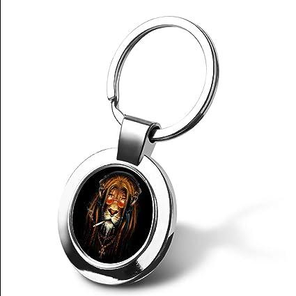 Llavero personalizable con diseño de caballo marrón con ...