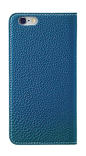 [BLACK FRIDAY 50%OFF] BONAVENTURA iPhone 6s Plus / iPhone 6 Plus Leather Flip Wallet Cover Case (Perlinger Full-Grain Leather) [iPhone 6 Plus / 6s Plus | BLUE] by BONAVENTURA (Image #2)