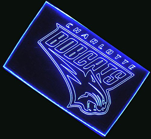 NBA Charlotte Bobcats Team Logo with (16 kinds of Colors flashing mode+remote control) Neon Light Sign by scopewise co