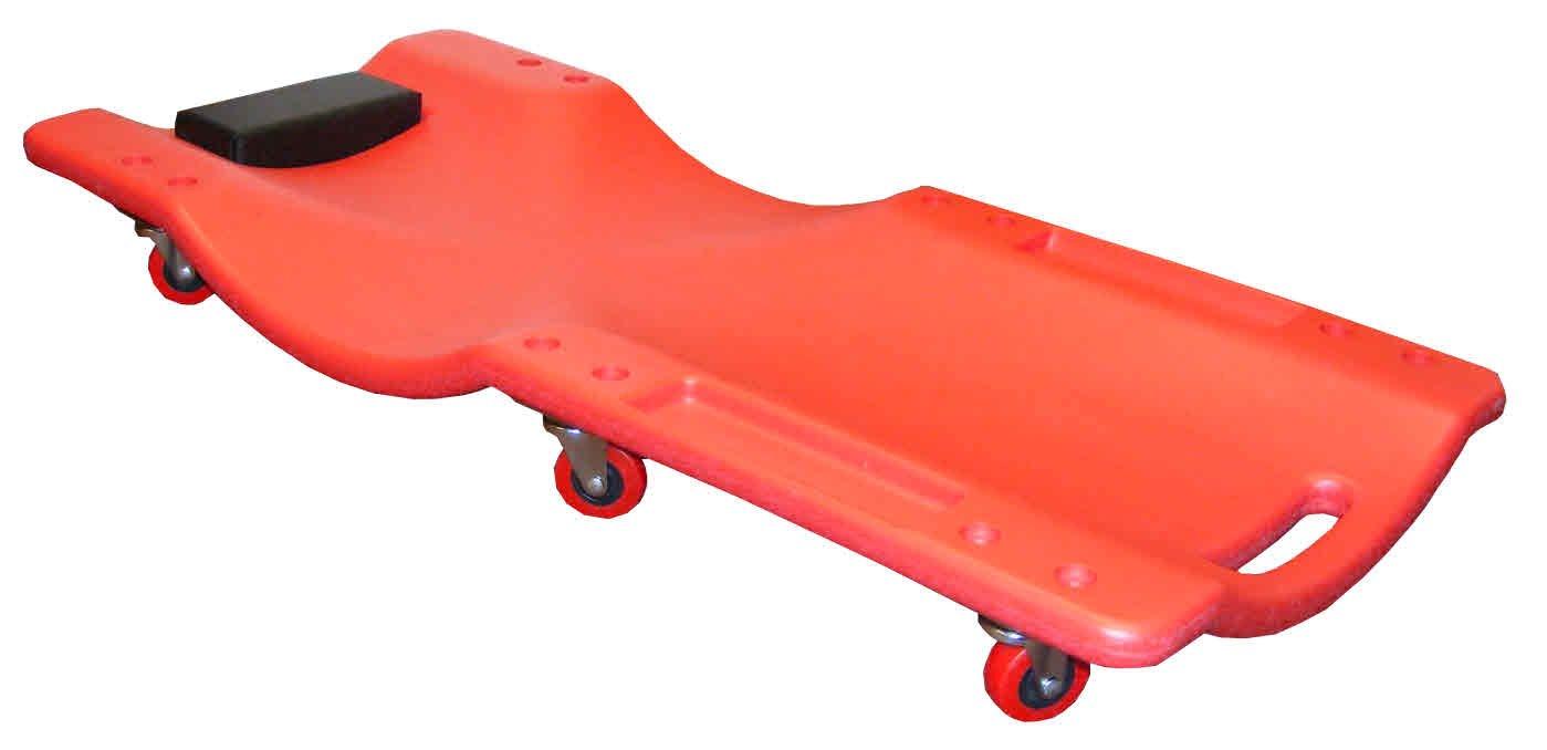 Carrello sotto auto per meccanico, resistente, sagomato, 6 ruote e poggiatesta SAC Electronics Ltd