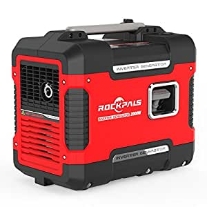 Rockpals 2000-Watt Portable Inverter Generator, Super Quiet Gasoline Digital Power Generator