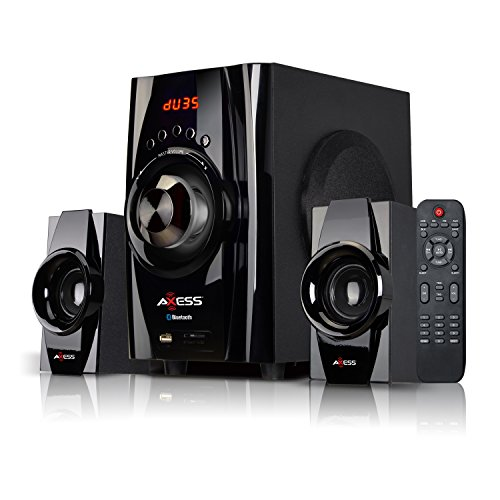 AXESS Bluetooth Mini System 2.1-Channel Home Theater Speaker System Black (MSBT3901)