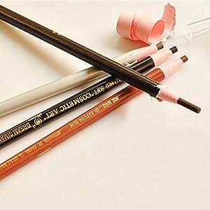 Usstore 4PC Eyebrow Pencil Waterproof Natural Long lasting Enhancer Eyebrow Liner Multipurpose Tool Cosmetic Multifunctiona Organizer Applicator Tool For Kabuki Women Lady