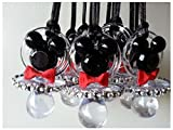 Unbranded 12 Mickey Mouse Pacifier Necklaces Baby Shower Game Favors Prizes Boy Decoration